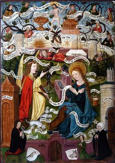 Annunciation as unicorn hunt & genealogy of Christ by petrus.agricola, via Flickr
