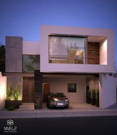 modern and luxury home design Bungalow House Design, House Front Design, Small House Design, Modern House Design, Modern Minimalist House, Small Modern Home, Modern Architecture House, Architecture Design, Plan Ville