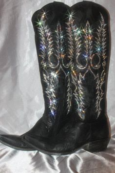 Custom Rhinestone Cowboy Boots by TheBrinkBling on Etsy | Products