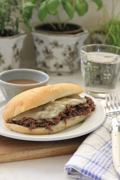 Jenny Steffens Hobick: Beef Drip Sandwiches | Football Napkin Weight | Super Bowl Menu