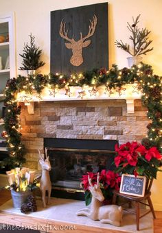 I love the deer head silhouette over the fireplace