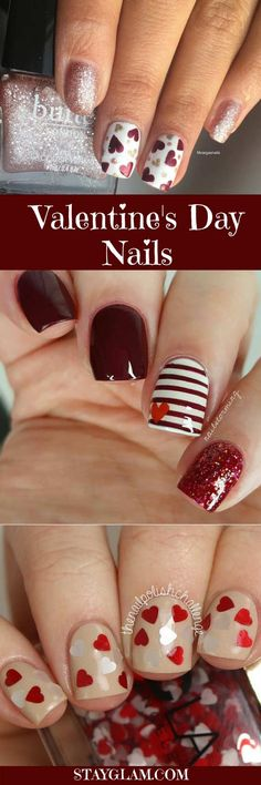 Gel manicure designs thoughts ideas for 2019 Fancy Nails, Trendy Nails, Sparkle Nails, Colorful Nail Designs, Nail Art Designs, Gel Manicure Designs, Nails Design, Nail Manicure, Valentine Nail Art