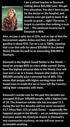 "Socialism always fails.~I'm pretty sure Denmark is a ""Market Empire"", but nothing is free. Thomas Sowell wrote a great book on it. Political Quotes, Political Views, Political Topics, Political Articles, Political Cartoons, Great Quotes, Inspirational Quotes, Pseudo Science, Letter To Teacher"