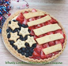 What's Cookin' Italian Style Cuisine: 4th of July Cheesecake Pie Recipe