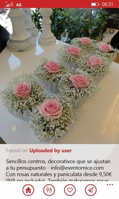 Bouquet idea for the decoration of self-service tables or for wine . Bouquet idea for decorating self-service tables or for the reception. - Idea of ​​bouquet for the decoration of self-ser. Wedding Centerpieces, Wedding Table, Diy Wedding, Wedding Flowers, Dream Wedding, Wedding Day, Trendy Wedding, Reception Decorations, Wedding Reception