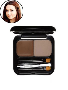 """Benefit Brow Zings Brow Shaping Kit This mirrored compact houses pigmented wax, powder, a tiny pair of tweezers, a small blending brush, and a small angled brush. """"This kit definitely gives me the most natural-looking brows—more so than any pencil or gel I've ever used,"""" says editorial assistant Irma Elezovic, who uses the deeper shade to make her arches pop against her fair skin. """"I outline each brow using the angled brush and wax and then lightly fill in the entire area with a sweep of col..."""