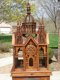While I think this Victorian bird cage is gorgeous, I hope they didn't actually keep birds in it??!!  There's no room for them to move!