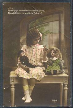 PV019-Cute-EDWARDIAN-GIRL-DOLLS-FRENCH-Tinted-PHOTO-pc-FURIA