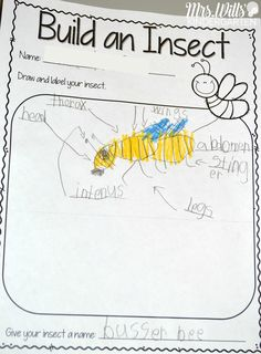 Insect Lesson Plans for Kindergarten. Students dive deep into learning about insects with these close reading and writing response activities. A week's worth of activities and more! Kindergarten Names, Kindergarten Lesson Plans, Kindergarten Science, Preschool Lessons, Kindergarten Classroom, Preschool Ideas, Preschool Crafts, Writing Lesson Plans, Science Lesson Plans