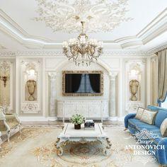 Элитный проект дома с элитной мебелью в классическом стиле от студии дизайна интерьеров Антонович Дизайн