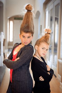 Looking for some inspiration for Wacky Hair Day? Check out these creative and simple hairdos!