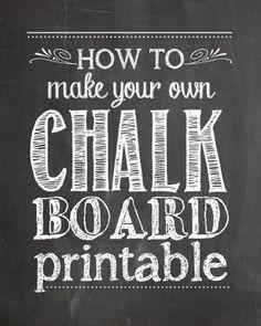Exemplo de painel; chalkboard exemple