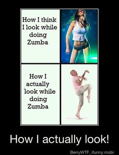 Here's another pretty close representation of my Zumba skills.... or lack thereof.  LOL