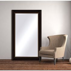 Framed Beveled Mirror - Black Copper (40 x 50), Black/Brown