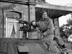 Major David V. Currie (July 8, 1912 – June 20, 1986), V.C., of the South Alberta Regiment in a Humber I scout car in Halte, the Netherlands on November 12, 1944. Photo courtesy of Library and Archives Canada (MIKAN 3221788).