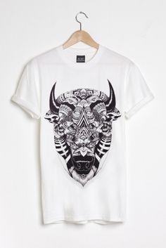 Image of Bison - White