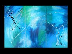 Original Abstract Painting BLUE SERIES  by DebsAbstractDesigns