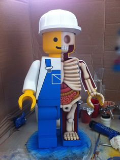 Giant LEGO men dissected by Jason Freeny