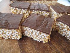 Puffed millet peanut butter bars