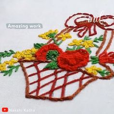BUD EMBROIDERY TUTORIAL Brazilian embroidery is a different kind of embroidery that uses rayon thread instead of cotton!Brazilian embroidery is a different kind of embroidery that uses rayon thread instead of cotton! Diy Embroidery Patterns, Embroidery Hearts, Crewel Embroidery Kits, Embroidery Stitches Tutorial, Embroidery Flowers Pattern, Creative Embroidery, Learn Embroidery, Silk Ribbon Embroidery, Embroidery Thread