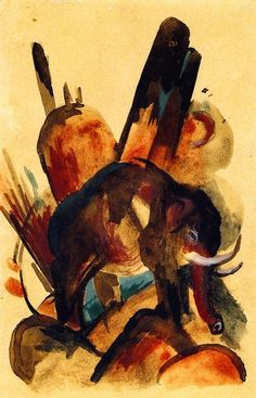Franz Marc (1880-1916, Germany) Postcard
