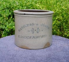 Hamilton & Jones, Greensboro, Stoneware Butter Crock