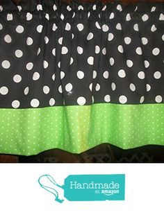 Black Green Polka Dot hello kitty minnie mouse fabric kitchen curtain Valance from Your Sewingroom https://www.amazon.com/dp/B0713XFK35/ref=hnd_sw_r_pi_dp_DglhzbPM3M4XR #handmadeatamazon