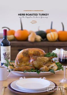 Herb Roasted Turkey with Apple Cider Gravy | Countdown to Thanksgiving ...