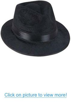 da372819311bd Black Pimp Gangsta Blues Brothers Costume Fedora Hat One Size (Fits Most  Adults and Teens)
