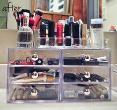 Great ideas on makeup storage!!