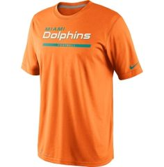 1a053f058 Nike Men s Miami Dolphins Legend Elite Font Orange Performance T-Shirt -  Dick s Sporting Goods