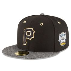 Pittsburgh Pirates New Era 2016 MLB All-Star Game Patch 59FIFTY Fitted Hat - Black/Heathered Gray - $37.99