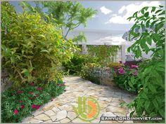 sân vườn đẹp cho nhà phố