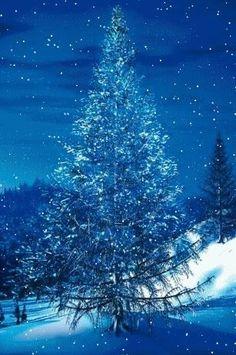 navidad escenas de nieve escenas de invierno nieve gif azules rboles de navidad navidad paisaje al aire libre de navidad rboles decorados de