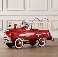 I wish I could get this.... stunning vintage pedal fire truck from Restoration Hardware