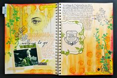 https://flic.kr/p/auMnm4   My 1st Art Journal spread   More photos and write-up blogged here: irmaperedne.blogspot.com/2011/10/sharing-my-1st-art-journ... *** Supply list: *Pens: Kuretake ZIG Wink of Stella (Gl. Gold MS-40-101); ZIG MIllennium (Pure Orange MS-03 and Pure Black MS-01). *Transparency: Die Cuts with a View. *Journal die cut page: Making Memories. *Stickers: Jenni Bowlin Studio (''know this'); Hambly Studios (birds). *Stamp: Stamper's Anonymous (eye), JoAnn Scrap Essentials…