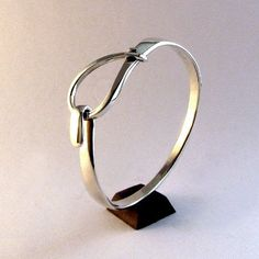 Sterling Silver Bracelet  - Small Loop Latch Cuff. $89.00, via Etsy.