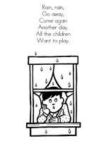 Rain, Rain Go Away Nursery Rhyme printable materials for a