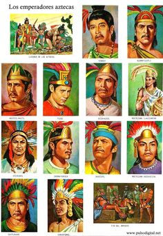 Los emperadores aztecas (1) Mexican American, Mexican Art, Mexico People, Aztec Empire, Ancient Aztecs, Aztec Culture, Aztec Warrior, Inka, Aztec Art