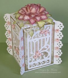 Sun Kissed Fleur White Gift Box by marisajob - Cards and Paper Crafts at Splitcoaststampers