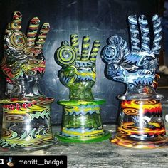 Finger bangerz made by @merritt__badge    #Regram via @worldofglassblowers)