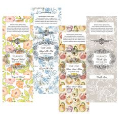 Premade Vintage Labels Customizable Lotion Labels Body Spray