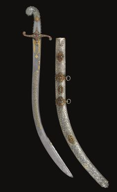 An Ottoman jewelled and jade-hilted presentation sword (kilij), Turkey, 18th-19th century