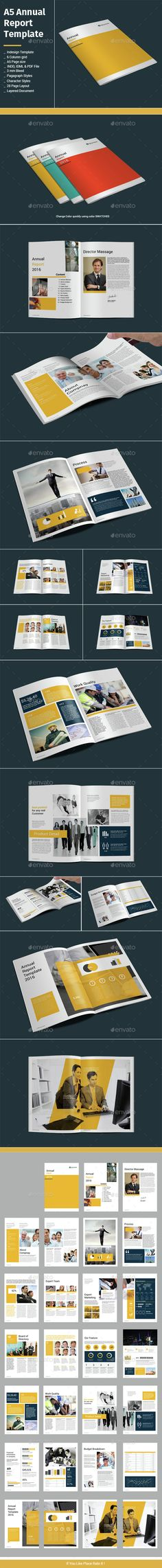 Annual Report InDesign Template v2 Indesign templates, Annual - annual report template design
