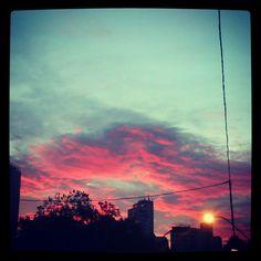 The sky is burning @ Porto Alegre