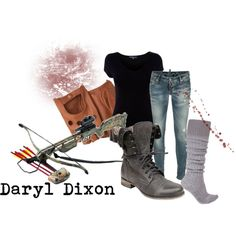 Daryl Dixon, created by andreathebatmanenthusiast on Polyvore