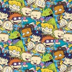 Rugrats Packed Characters Quilting Fabric - Multi