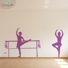 Bella Ballerina is the perfect decal for the dance enthusiast! This beautiful posing silhouette will look great in any dancer's room, especially for your little Ballerina!