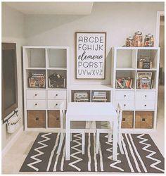 Ikea Kids Playroom, Playroom Organization, Boy Toddler Bedroom, Kids Bedroom, Kallax Hacks, Ikea Toys, Toy Rooms, Girl Room, Kids Rugs