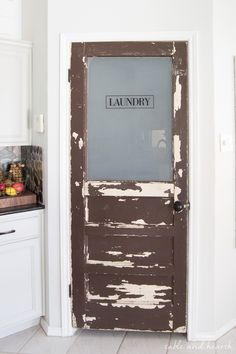Incroyable Vintage Touch: Rustic Laundry Door Update Nice Idea But I Wood Tweak It  Just A Little
